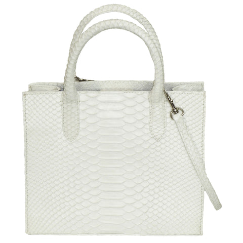 Cross Body Tote in Snakeskin