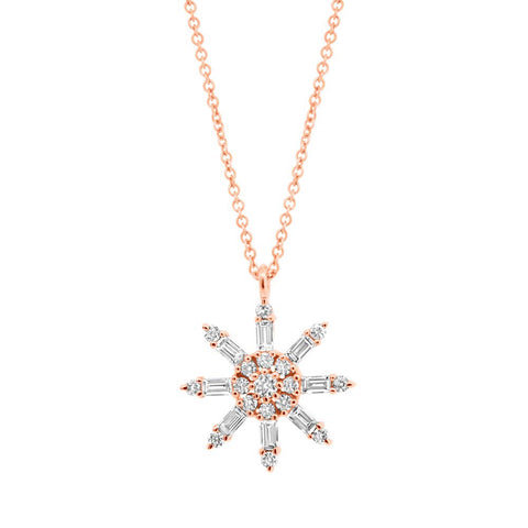 Baguette Star Diamond Necklace