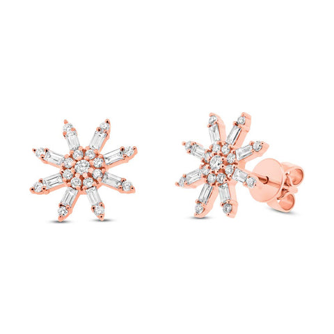 Baguette Star Stud Earrings