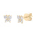 Butterfly Diamond Stud Earrings