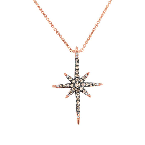 North Star Champagne Diamond Necklace
