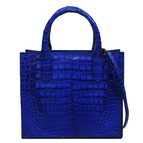 Cross Body Tote in Crocodile