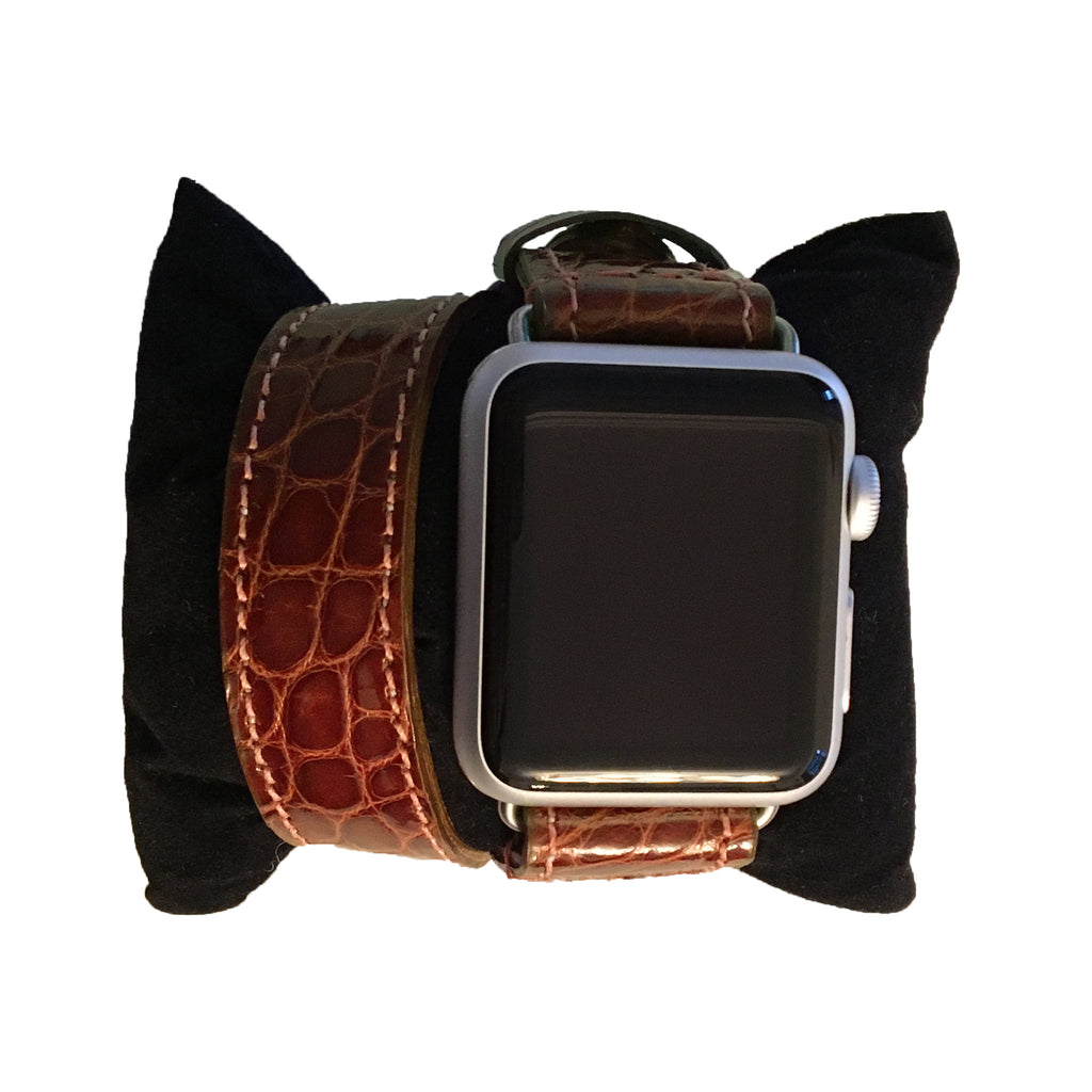 Alligator Apple Watch Double Wrap Band