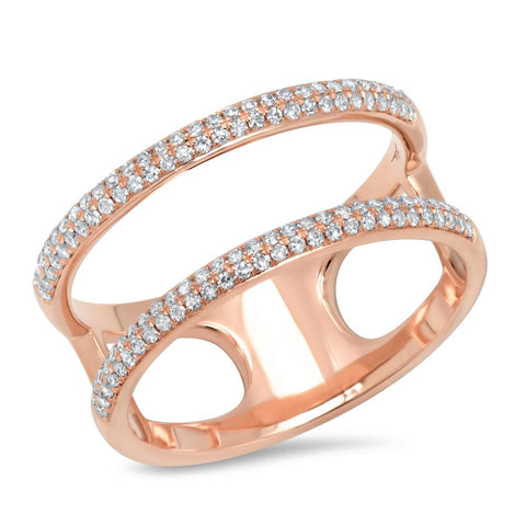 Double Lines Diamond Ring