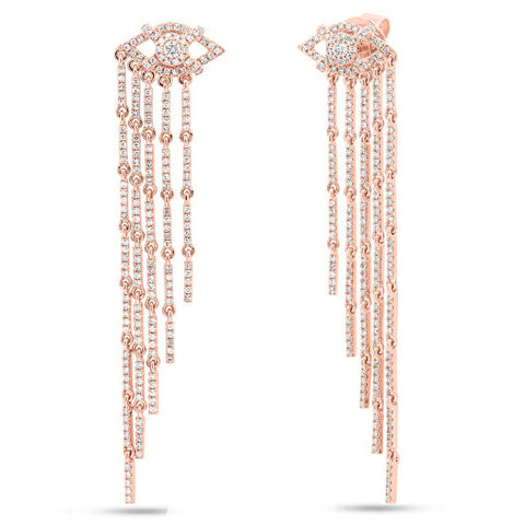 Eye Fringe Diamond Earrings