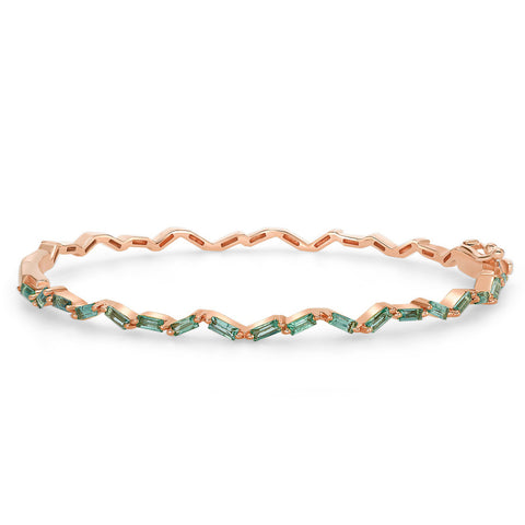 Emerald Zig-Zag Bangle