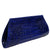"Exotic Cobalt Blue Crocodile Evening Clutch from the exclusive Coly collection features soft leather interior, magnetic closure, and an inside pocket. Dimensions are 10""W x 5""H x 1.5""D. Handmade in Los Angeles."