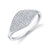 Pave Diamond Eye Ring