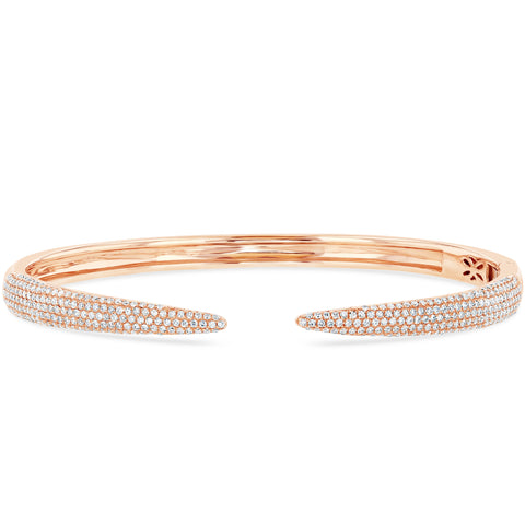 Horn Diamond Bangle