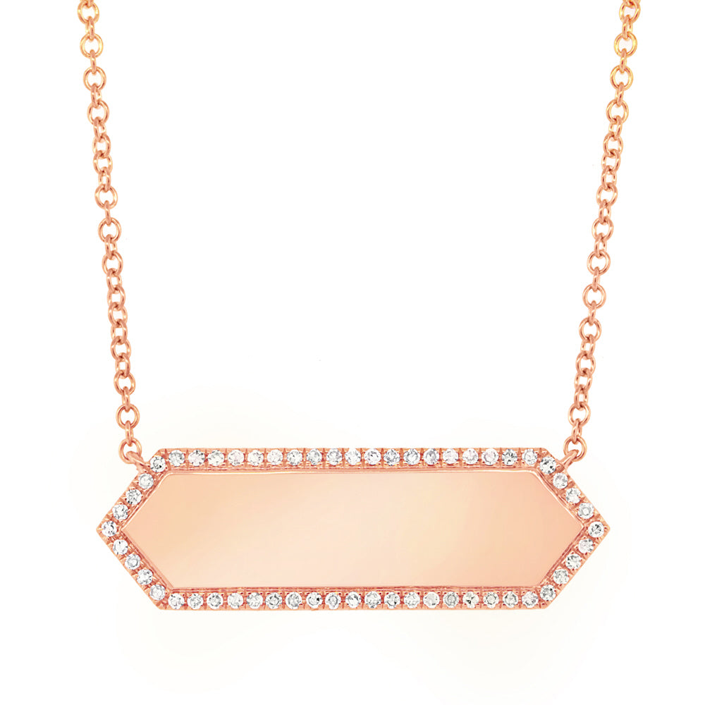 ID Bar Diamond Necklace
