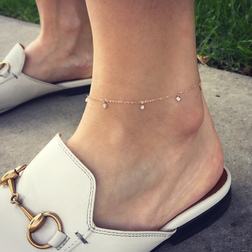 Diamond Shaker Anklet