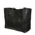 Black Matte Genuine Crocodile Knotted Tote by Coly Los Angeles
