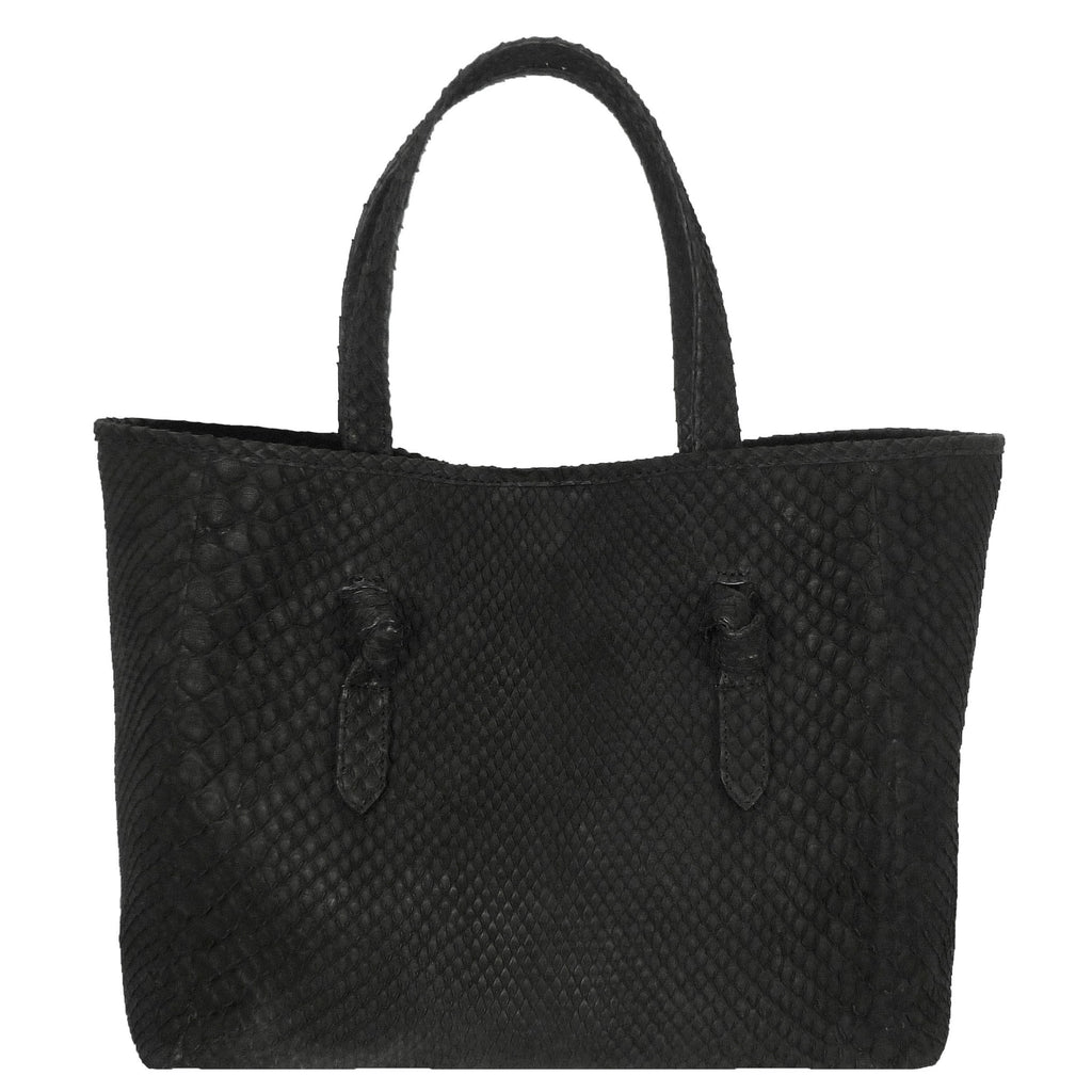 Knotted Tote in Snakeskin