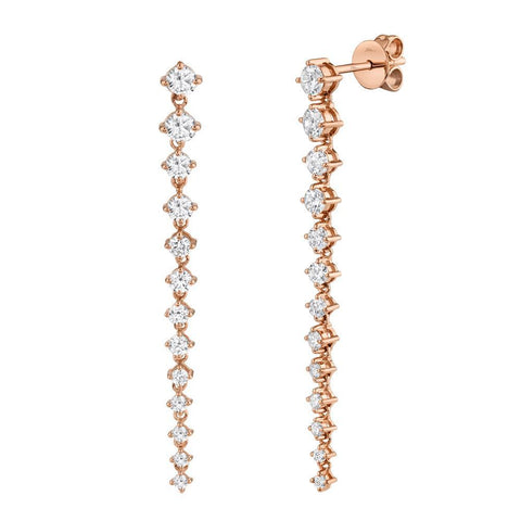 Leila Drop Diamond Earrings