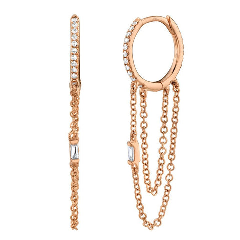 Mala Chain Diamond Earrings