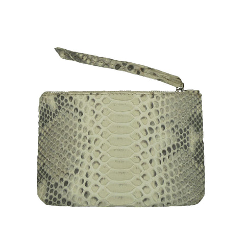 Mini Snakeskin Cosmetic Bag