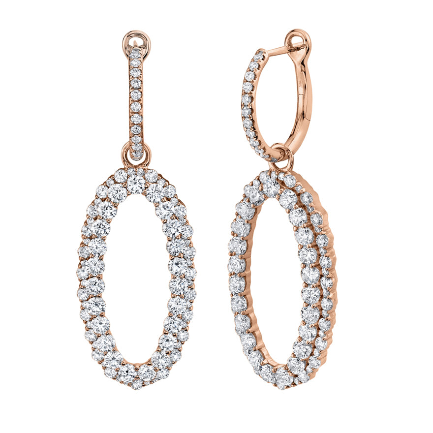 Oval Lux Drop Earrings