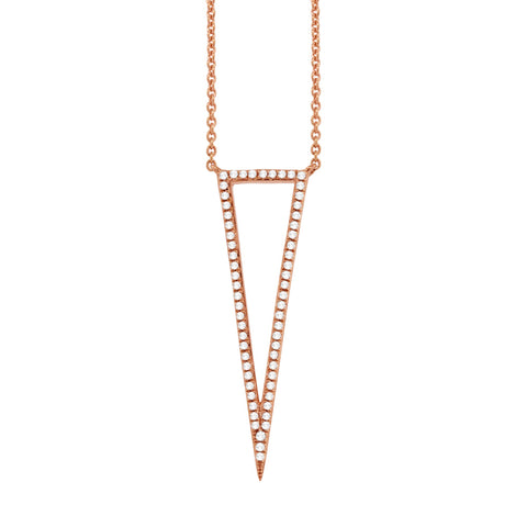 Open Triangle Pave Necklace
