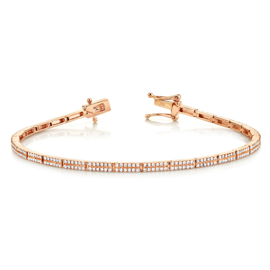 Pave Diamond Rectangles Bracelet