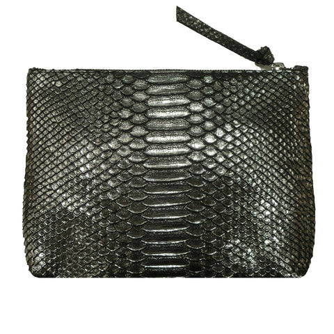 Snakeskin Cosmetic Bag