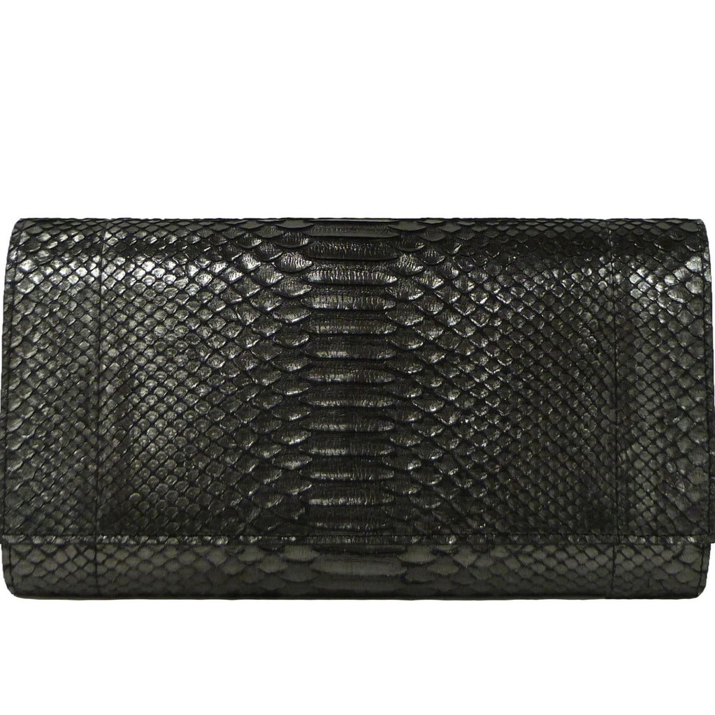 Oversized Snakeskin Clutch