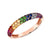 Pave Ombre Rainbow Ring