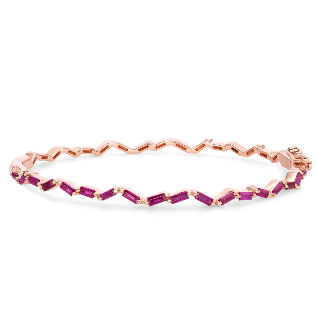Ruby Zig-Zag Bangle