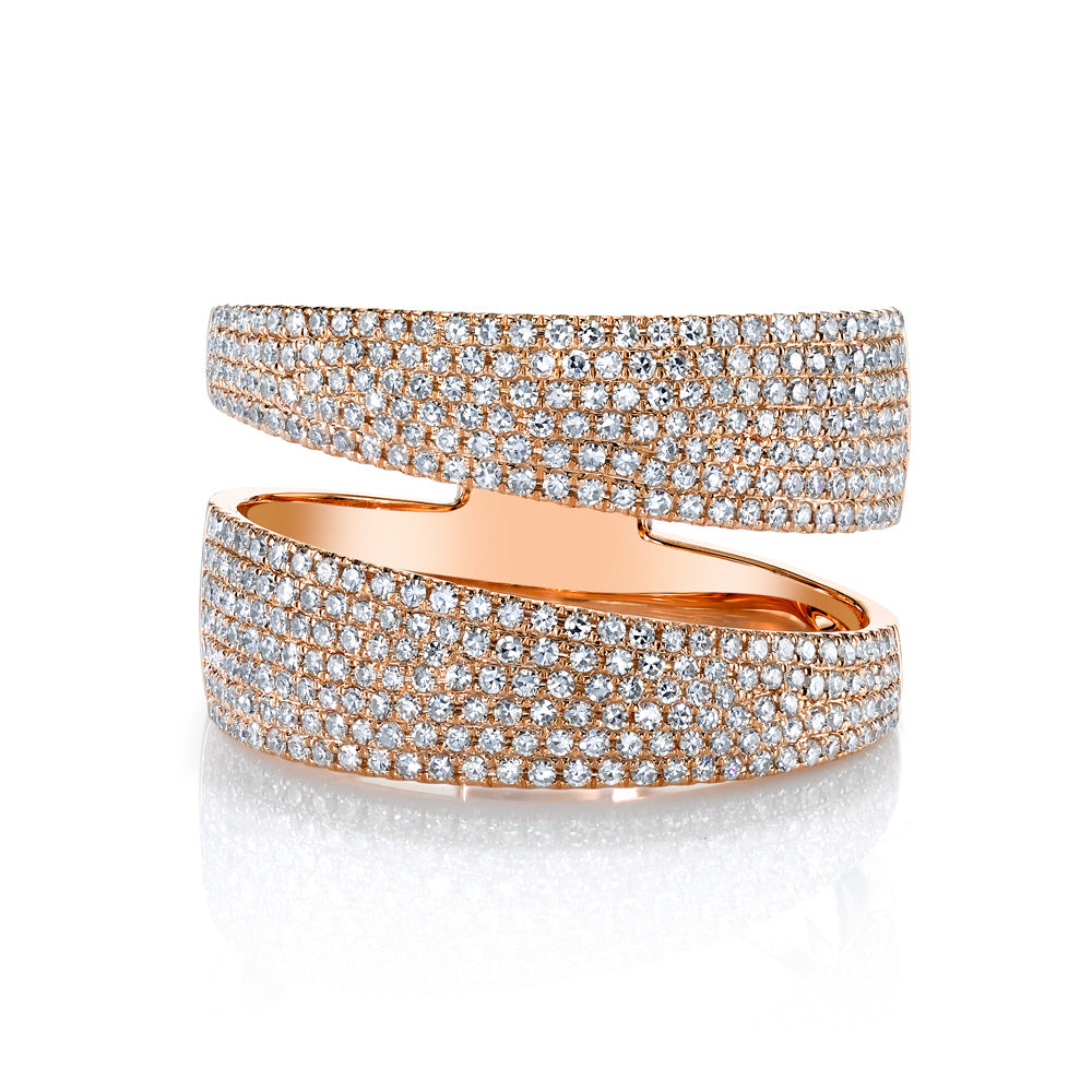 Sliced Pave Diamond Band