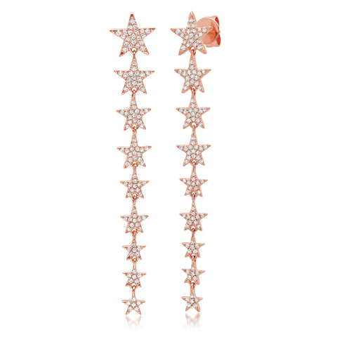 Lucky Star Drop Earrings
