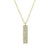 Pave Diamond Tag Necklace