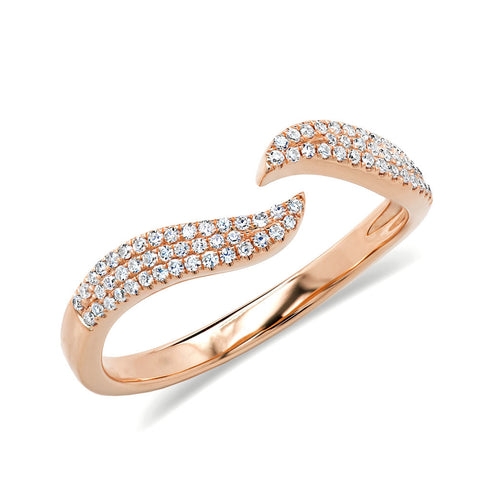 Open Wave Diamond Ring