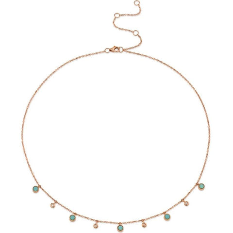 Turquoise and Diamond Droplet Choker