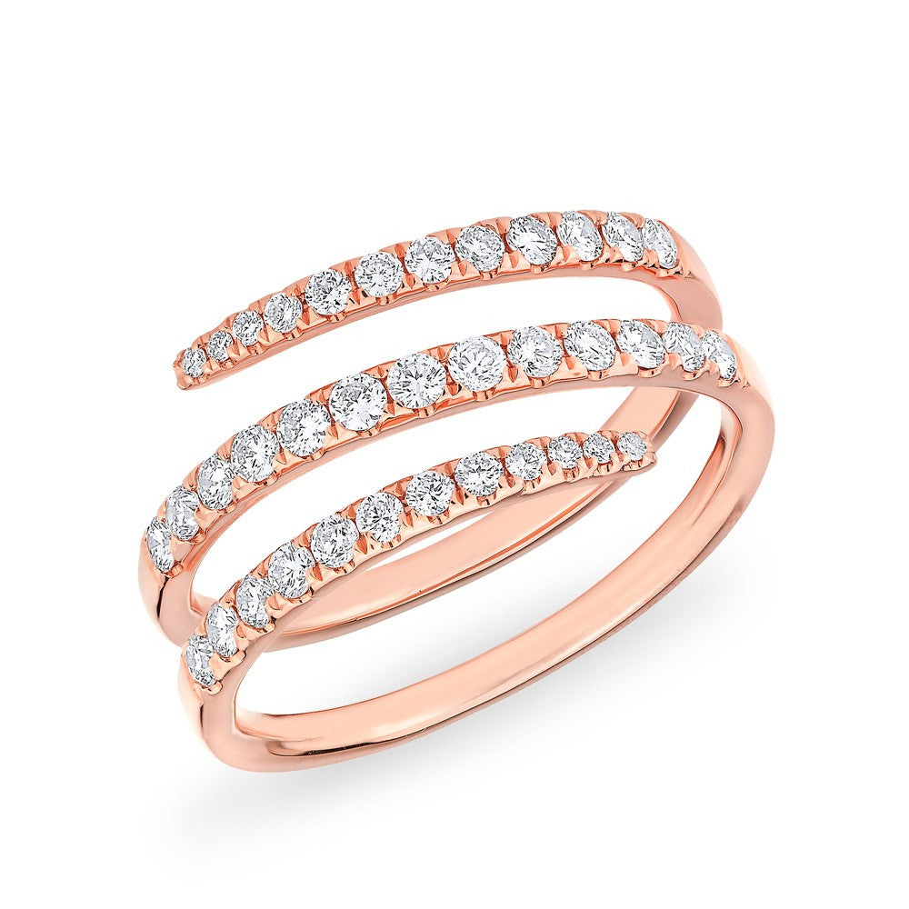 Twirl Diamond Ring