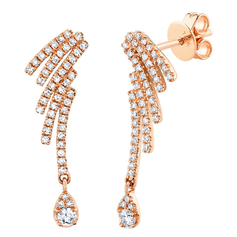Eva Diamond Wing Earring