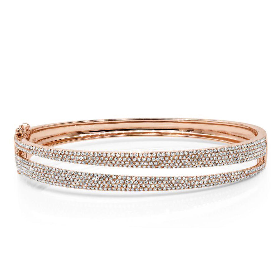 Sliced Pave Diamond Bangle