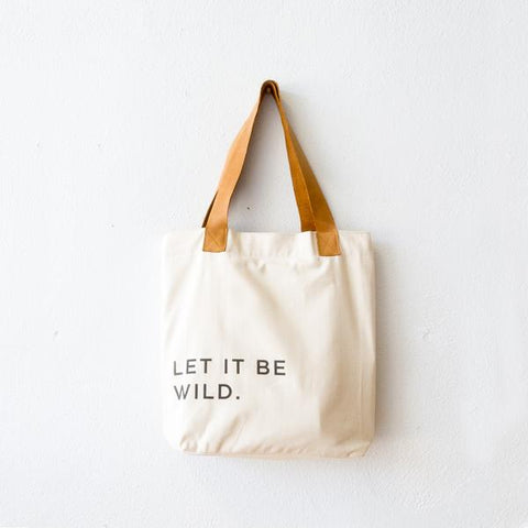 Canvas Tote - Let It Be Wild