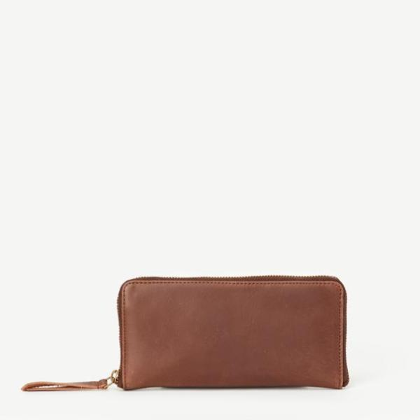 The Arya Leather Wallet - Brown or Camel