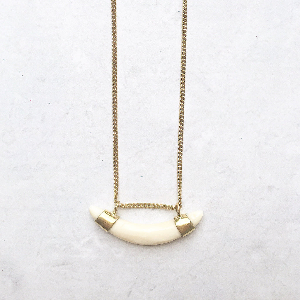 Crescent Bone Necklace