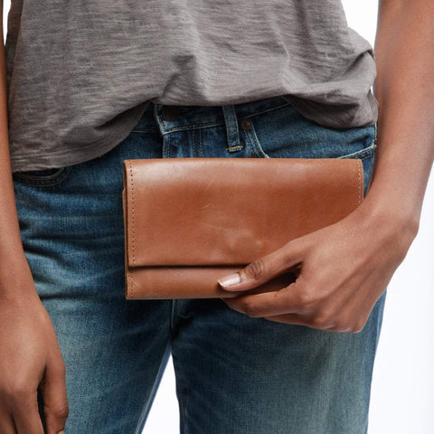 Debre Wallet - Cognac or Chestnut
