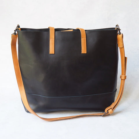 Abera Crossbody Tote - Two Tone