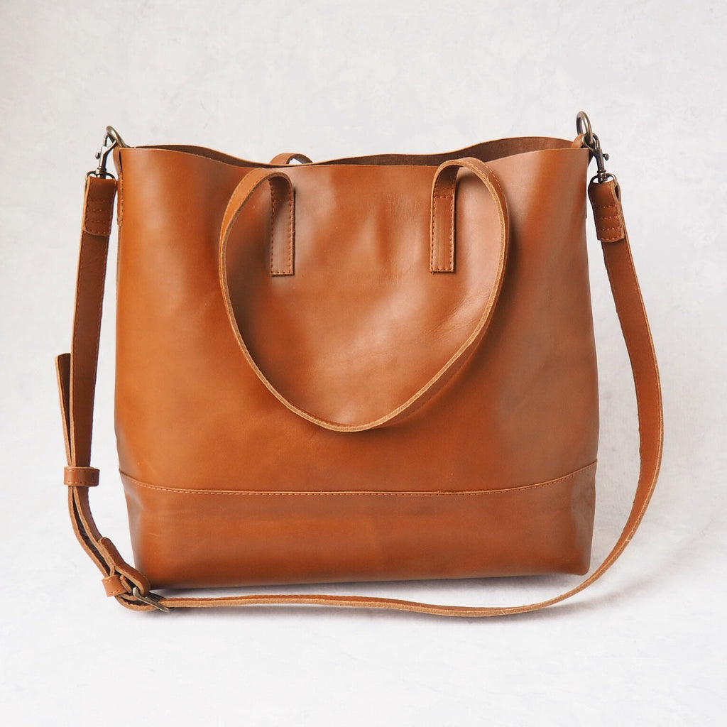 Abera Crossbody Tote - Chestnut