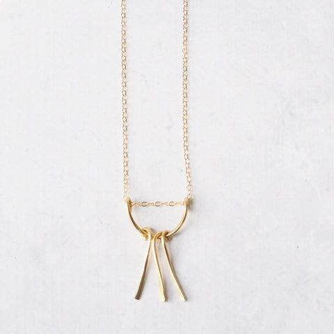 Brass Pendant Necklace