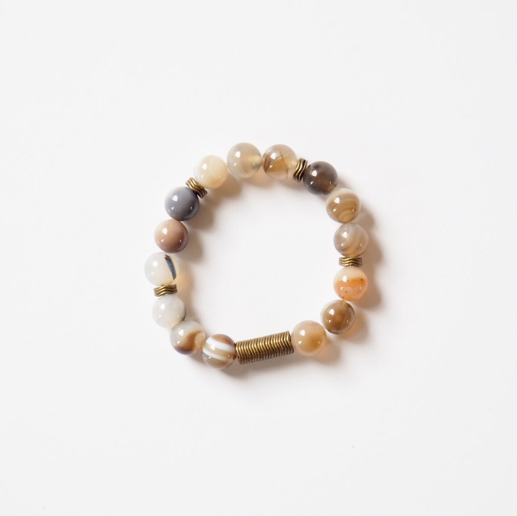 Stone Stretch Bracelet - Neutral