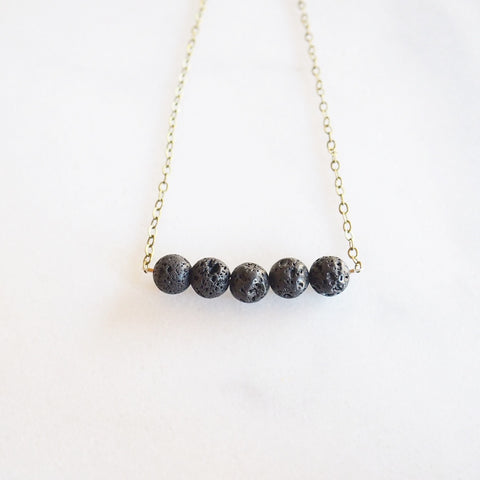 EO Lava Bead Necklace