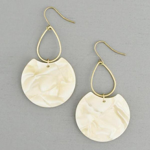 Etch Earrings - Blonde or White Stripe
