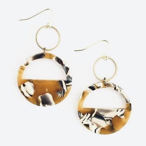 Cut Out Lucite Earrings