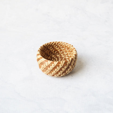 Miniature Pine Needle Basket
