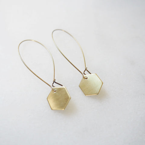 Tiny Hex Earrings