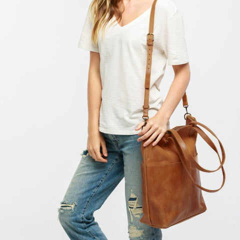 Chaltu Crossbody Tote - Chestnut