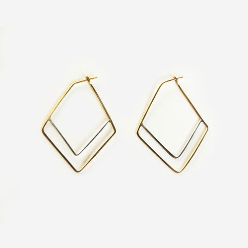 Two-Tone Chevron Earrings